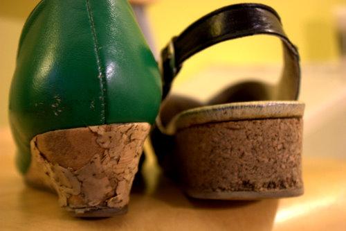 Mangled shoe backs