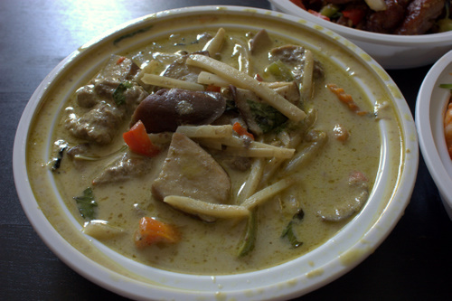 Am-thai green curry beef