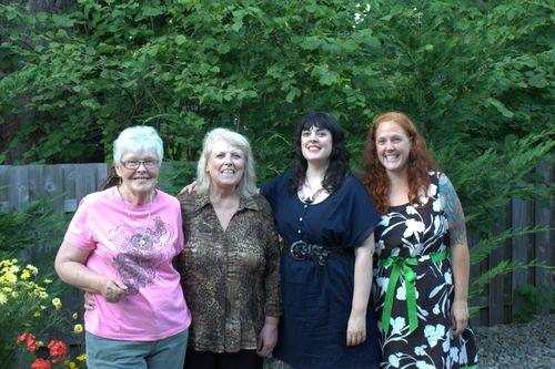 Grandma, mom, me, sister