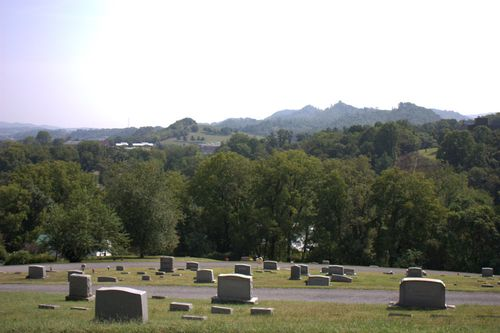 View from round hill cemetery