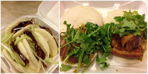 Duck and pork buns