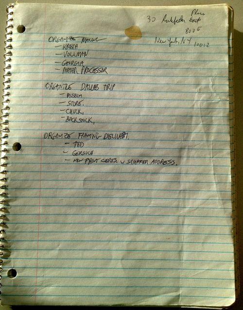 Artifact notebook